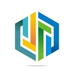 Logo Abstract Symbol Hexa Connecting Icon Element vector