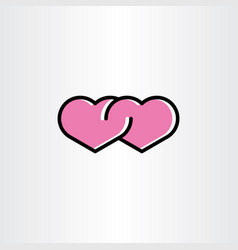 Love icon heart symbol sign vector