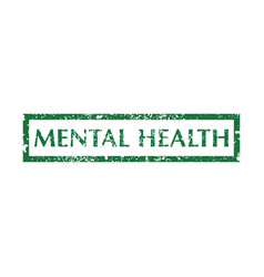 Mental health stamps vector