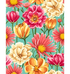 MoreFlowersFloral Seamless Patterns vector image
