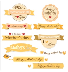 Mother day label set vector