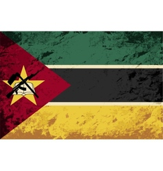 Mozambique flag Grunge background vector image