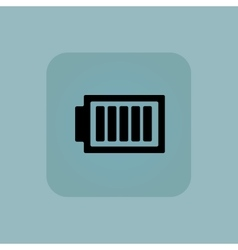 Pale blue charged battery icon vector
