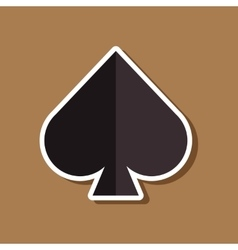 Paper sticker on stylish background poker game vector