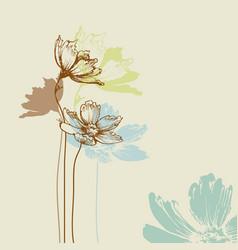 pastel floral bouquet vector image