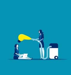 people suck colleague ideas concept business vector image