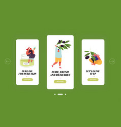 people use olive oil for eating and cosmetics vector image