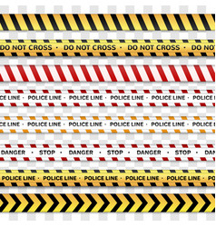 police line and do not cross caution lines vector image