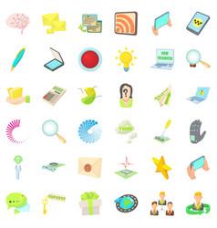 Radio transmitter icons set cartoon style vector