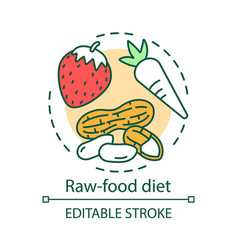 raw food diet concept icon vegetarian nutrition vector image