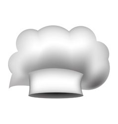 Realistic silhouette of chefs hat irregular vector