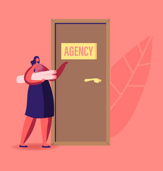 recruitment job hiring and interview concept vector image