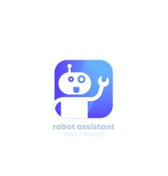 robot assistant logo for app vector image