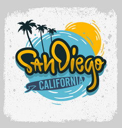 San diego california surfing surf design ha vector