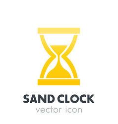 Sand clock hourglass icon on white vector