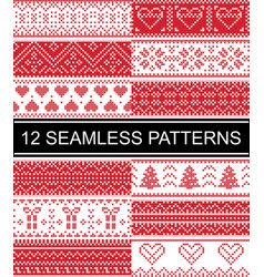 Scandinavian style patterns christmas vector