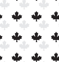 seamless pattern with maple vector image vector image