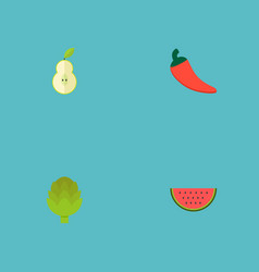 Set of vitamin icons flat style symbols with vector