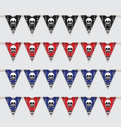 Skeleton bunting vector image