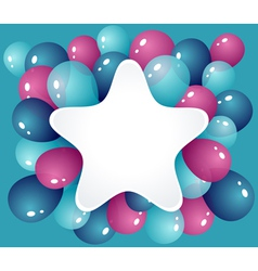 Star frame with balloons vector image