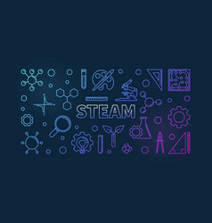 steam colored linear on dark vector image