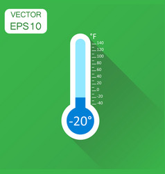 Thermometer icon business concept goal pictogram vector