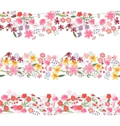 Three different seamless pattern brushes with vector image