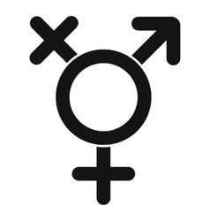Transgender sign icon simple style vector image