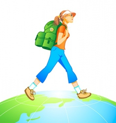 Travel world vector