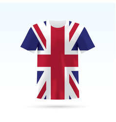 uk flag t-shirt vector image
