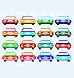 various color car vector image