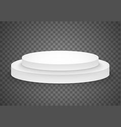 Victory platform template 3d realistic winner vector