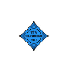 ware house tool logo designs inspiration isolated vector image