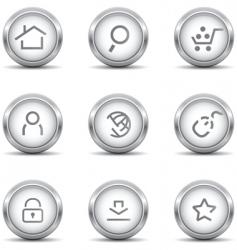 web icons grey vector image