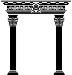 Classic arch stencil vector image