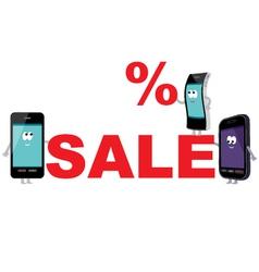 Discount for smartphones sale vector image