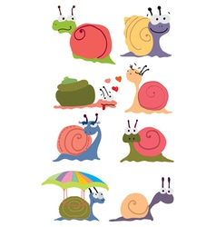 funny snails vector image vector image