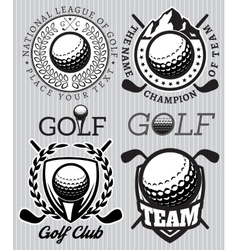 set of patterns badges for golf vector image vector image