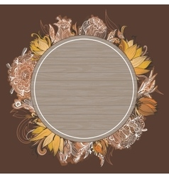 Fall Floral Frame vector image