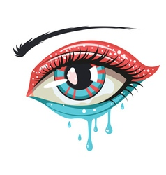 Red blue colors eye vector