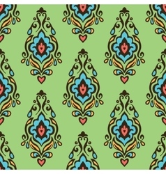 seamless damask floral pattern for fabric vector image vector image