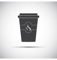 Simple icon paper cup of coffee vector image