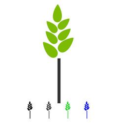 wheat ear flat icon vector image vector image