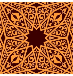 Arabic seamless pattern with geometric elements vector image