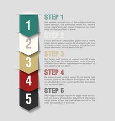 Arrows steps design template vector image vector image