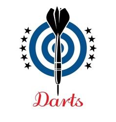 Darts emblem or logo vector