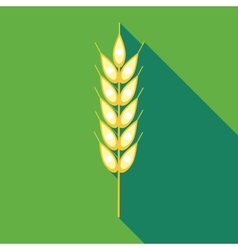 Ear of of wheat icon in flat style vector image vector image