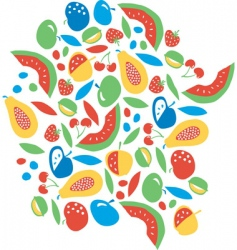 fruit explosion vector image vector image
