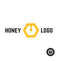 honey logo with abstract sign vector image