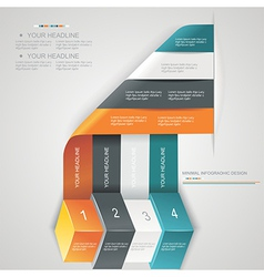 Modern options bannercan be used for workflow vector image vector image